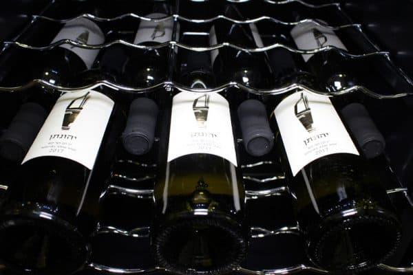 מקרר יין מדחס 50 בקבוקים מדפי עץ