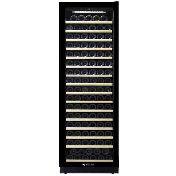 מקרר יין 176 בקבוקים אינטגרלי עם מדחס ומדפי עץ. דגם JC-425A. מתצוגה
