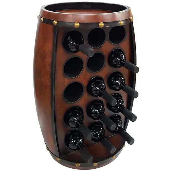 ארון בר ל-15 בקבוקי יין בצורת חבית עומדת