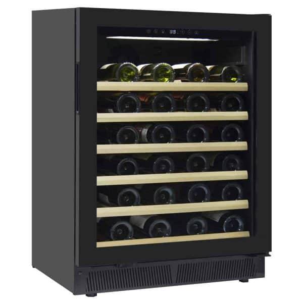 מקרר יין מדחס 52 בקבוקים אינטגרלי עם מדפי עץ. דגם JC-145A
