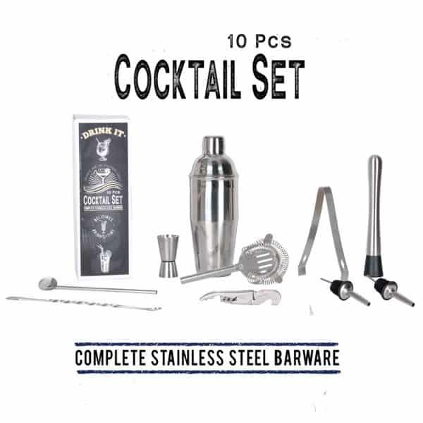 ערכה לברמן - מושלמת להכנת קוקטיילים - 10 חלקים