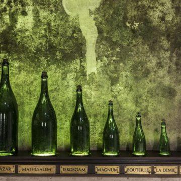 גדלים של בקבוקי יין